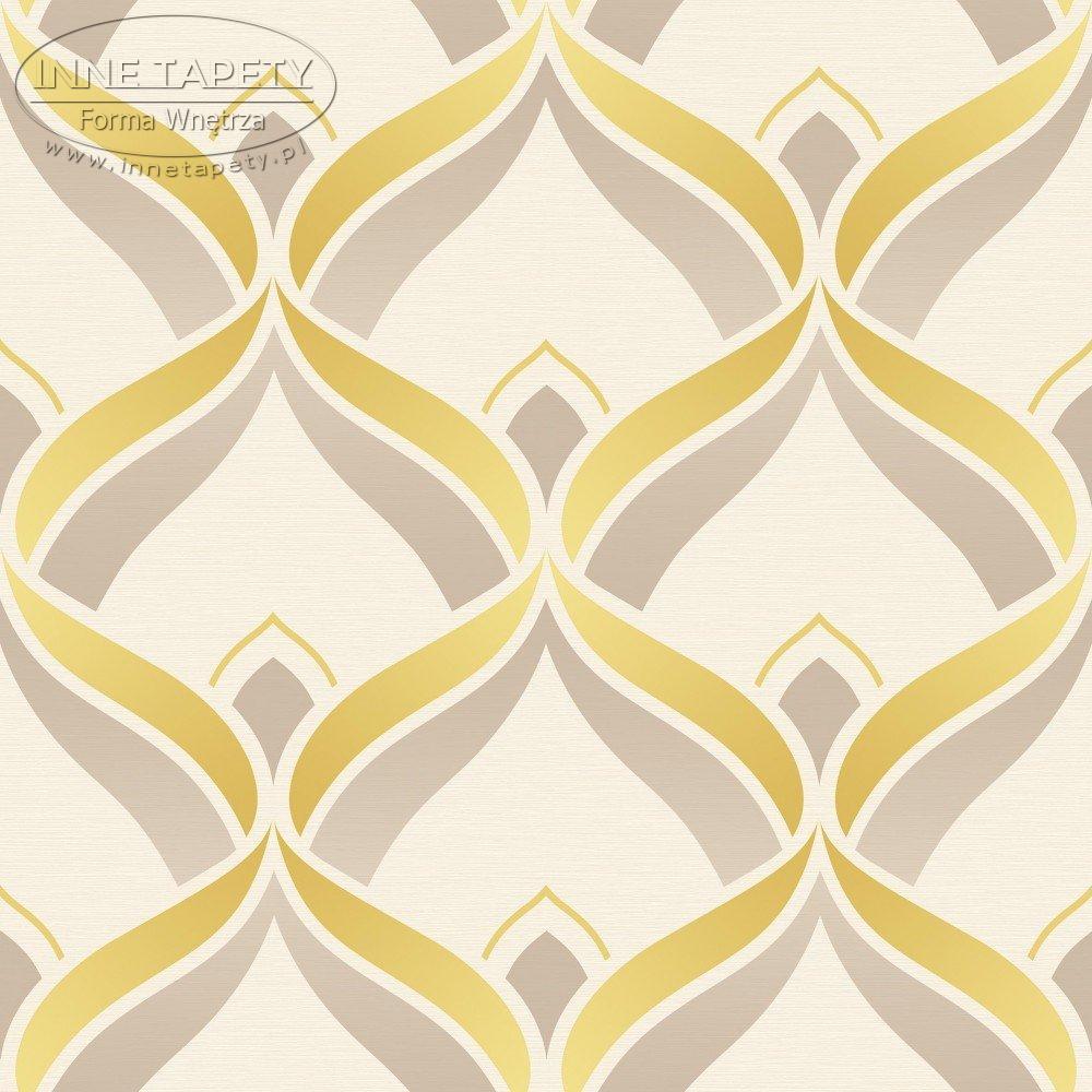Mustard Design Wallpaper : Tapeta deco walls retrospective